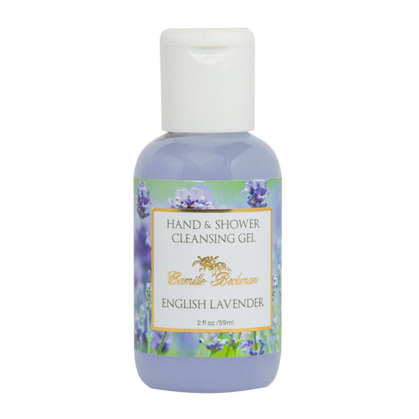 Hand and Shower Cleansing Gel 2 oz English Lavender (Case/6) Cleansing Gel Camille Beckman Wholesale