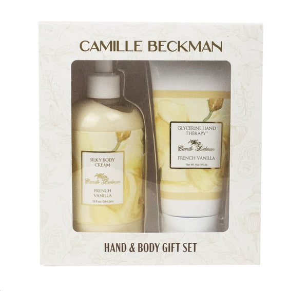Hand and Body Duet French Vanilla (4/case) Gift Set Camille Beckman