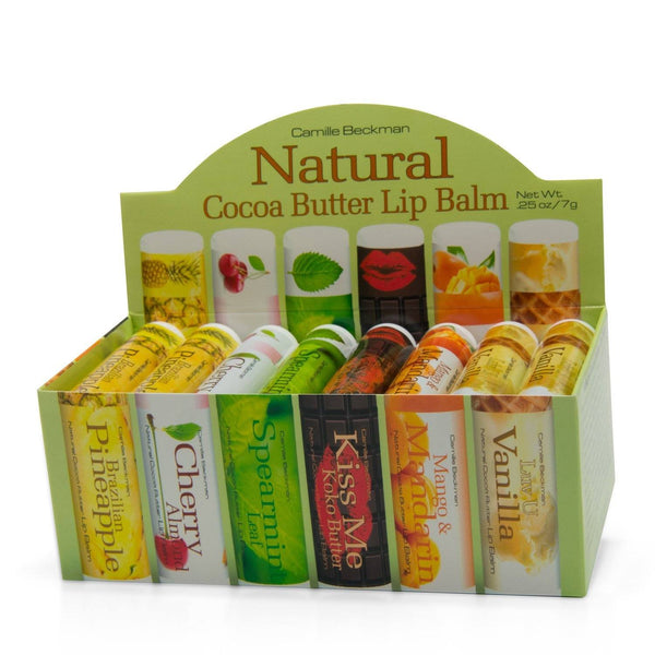Natural Lip Balm Assorted (4 of Each Flavor) Lip Balm Camille Beckman