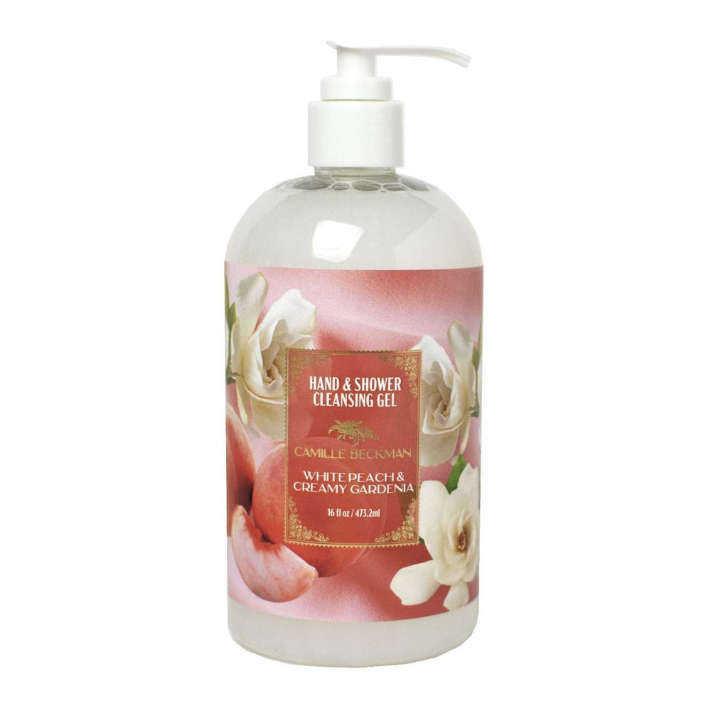 NEW!  Hand and Shower Cleansing Gel 16oz White Peach & Creamy Gardenia (6/case)