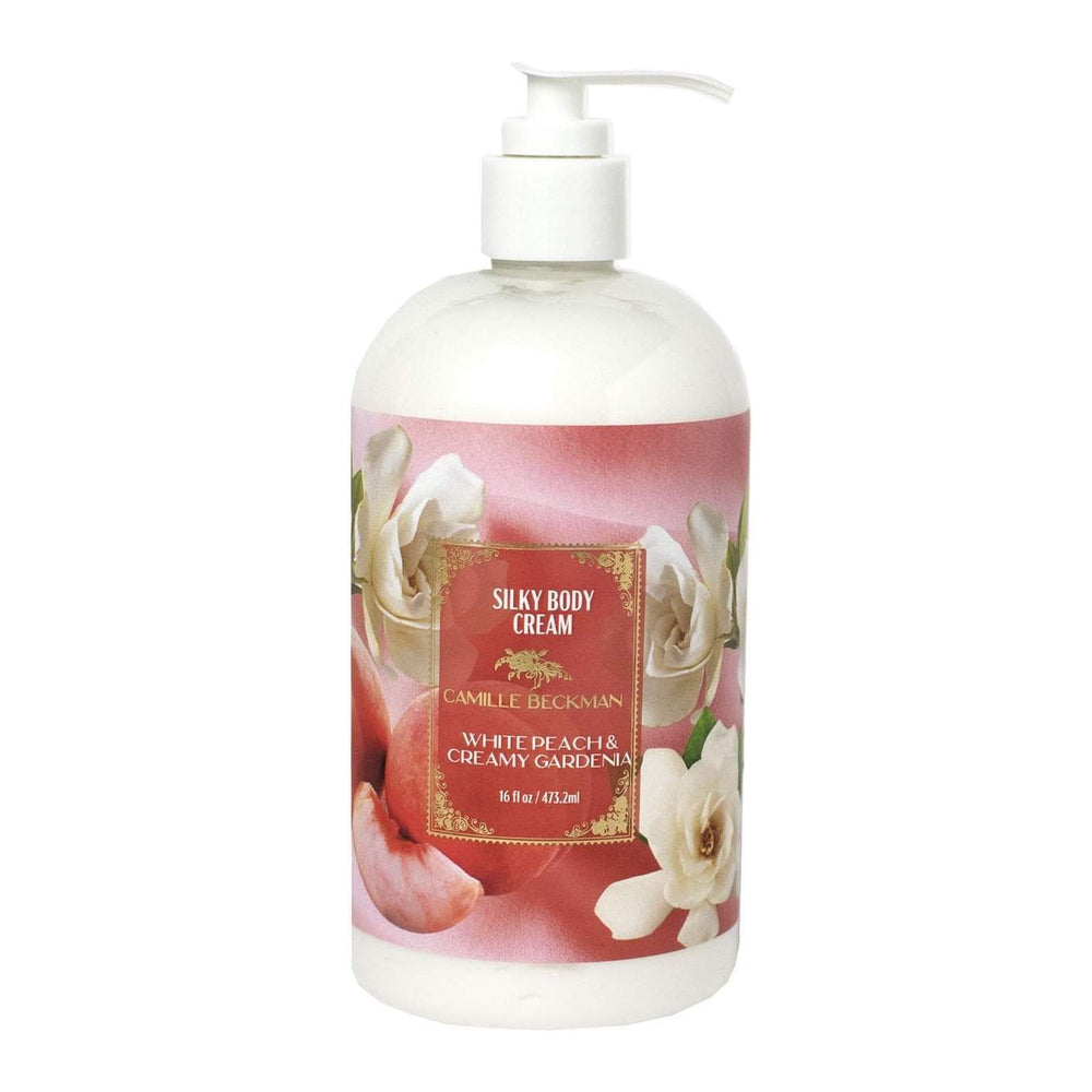 NEW!  Silky Body Cream 16oz White Peach & Creamy Gardenia (6/case)
