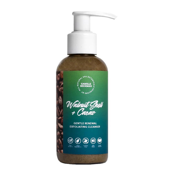 Walnut Shell + Cacao Gentle Renewal Exfoliating Cleanser 3.8fl oz (6/Case) Camille Beckman Wholesale
