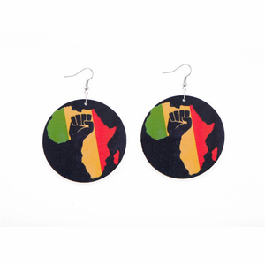 Africa Round Dangle Earrings