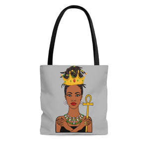 Melanated Queen Tote Bag (Pink Swan)