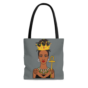 Melanated Queen Tote Bag (Medium Gray)