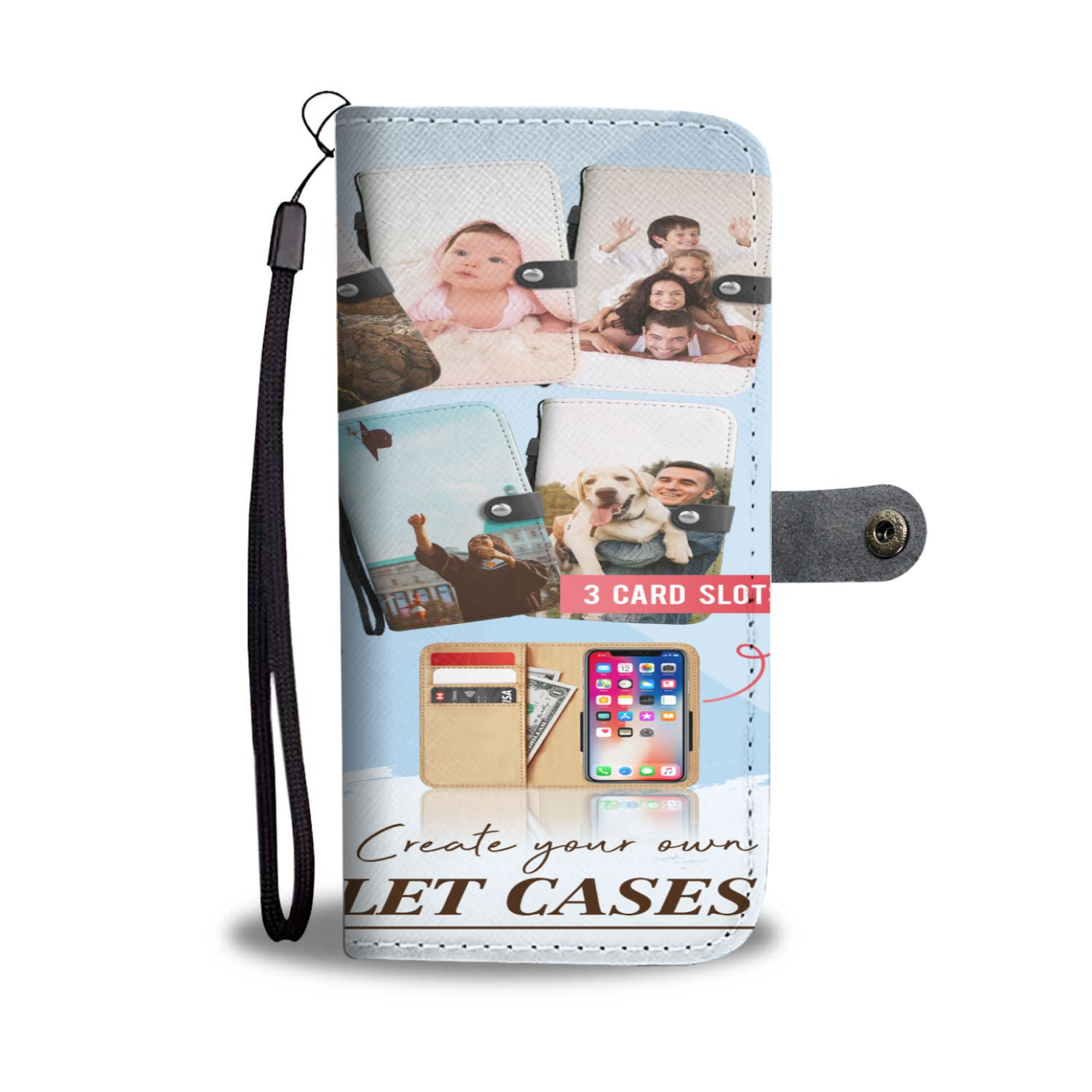 Custom Designed Phone Wallet Case