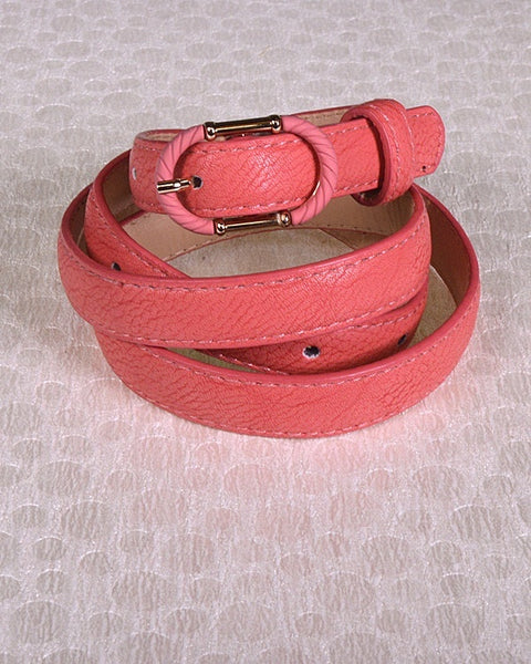 Faux Leather Adjustable Belt with Decorative Oval Buckle-id.31380d