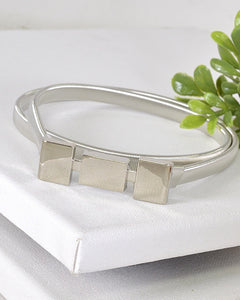 Squares Metal Buckle Belt-Silver-MY UPSCALE STORE