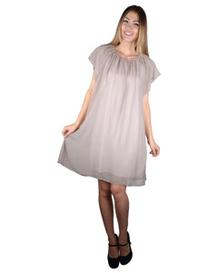 Solid Ruffle Sleeves Skater Dress-S-MY UPSCALE STORE