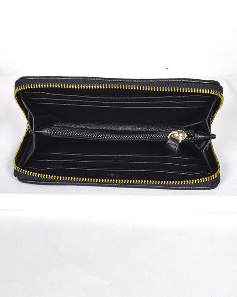 Textured Pin Design Clutch-Black-MY UPSCALE STORE