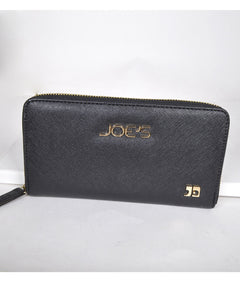 Solid Textured Clutch with Zip Fastening-Black-MY UPSCALE STORE