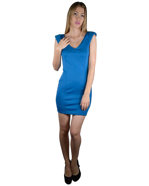 Solid Stylish Back Design Bodycon Dress-S-MY UPSCALE STORE
