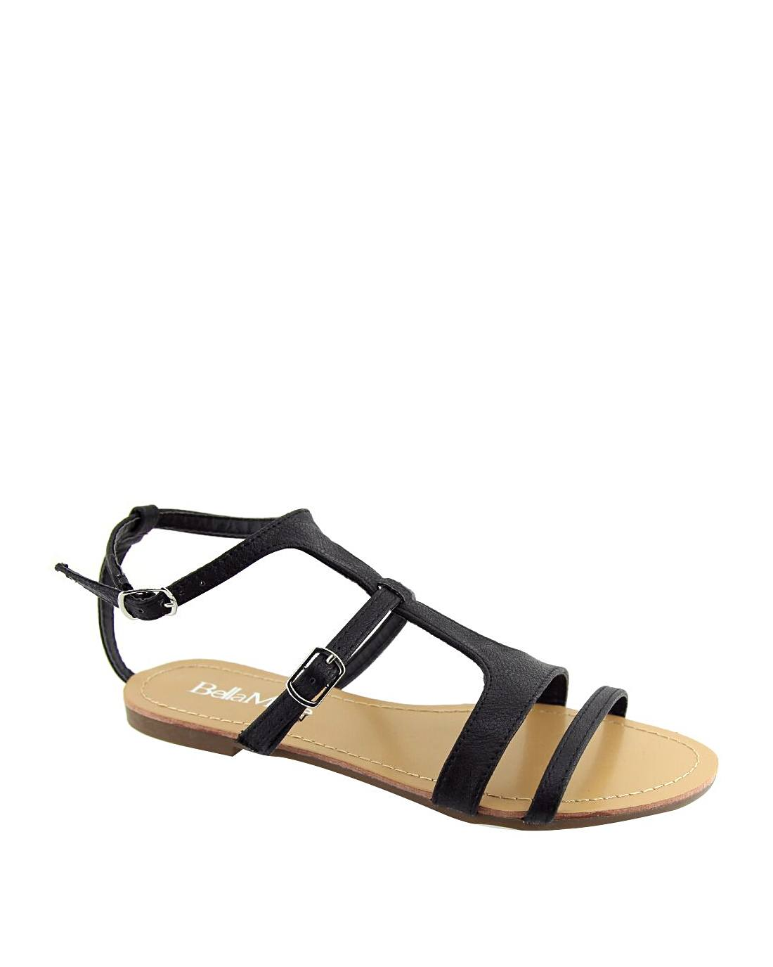 Open Toe T-Strap Side Buckle Closure Sandals-5.5-MY UPSCALE STORE