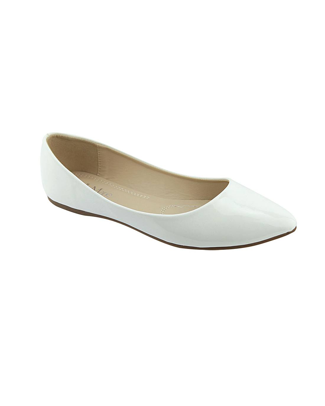 Pointed Toe Glossy Texture Flats-5.5-MY UPSCALE STORE