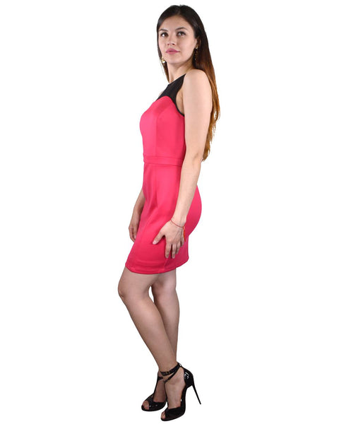 Mesh Detailing Princess Cut Short Dress-XS-MY UPSCALE STORE