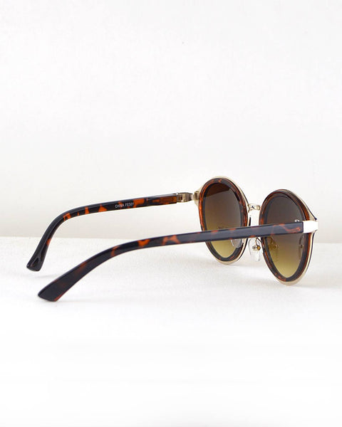 Stylish Round Frame Sunglasses-Animal Print-MY UPSCALE STORE