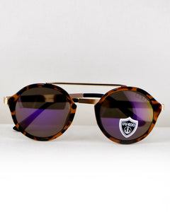 Round Frame Sunglasses-Purple/Animal-MY UPSCALE STORE