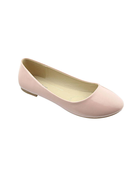 Dusty Rose Patent Ballerina Flats