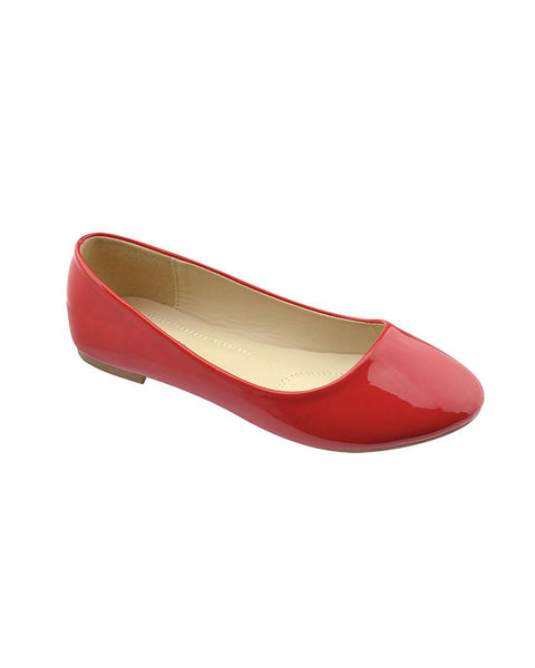 Red Patent Ballerina Flats-6-MY UPSCALE STORE