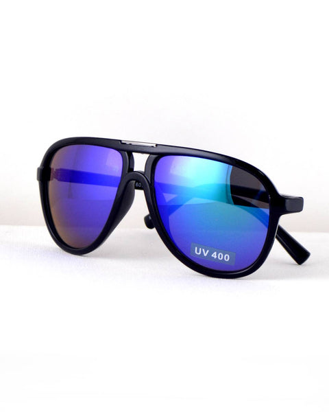 Stylish Broad Frame Aviators-Black /Blue-MY UPSCALE STORE