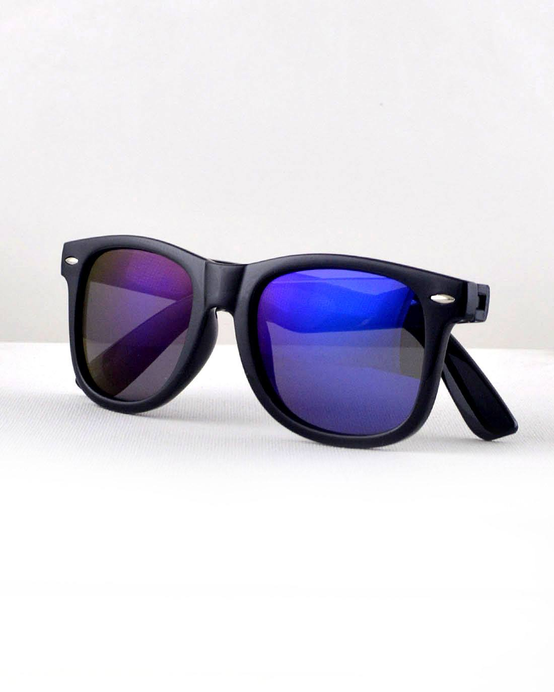 Stylish Black Frame Wayfarer Sunglasses-Purple-MY UPSCALE STORE
