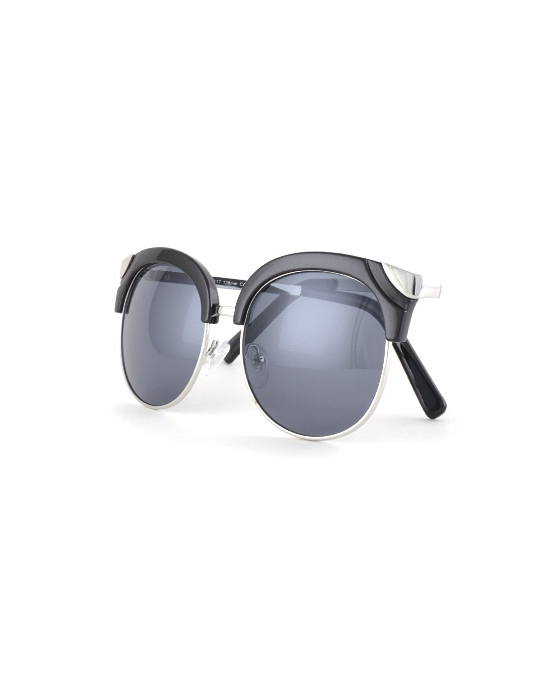 Half Frame Metallic Trims Aviators-Black-MY UPSCALE STORE
