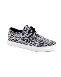 Canvas lace-up athletic shoes w/print-5-MY UPSCALE STORE