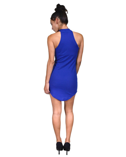 High neck racer-back shirtdress-S-MY UPSCALE STORE