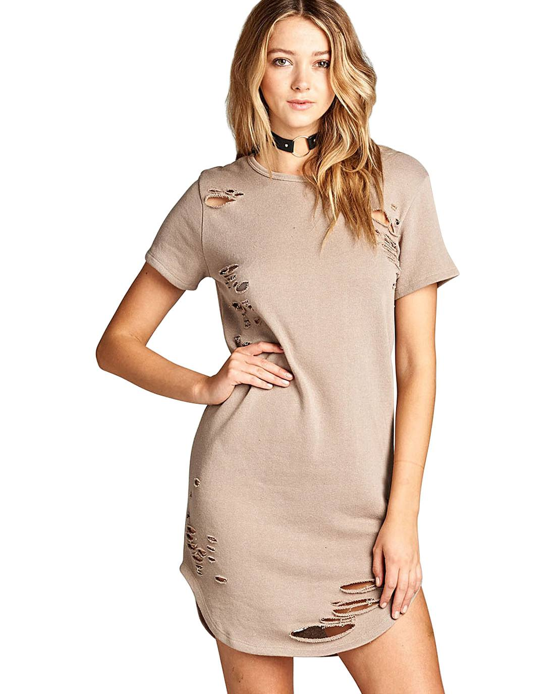 Ladies T shirt dress-S-MY UPSCALE STORE