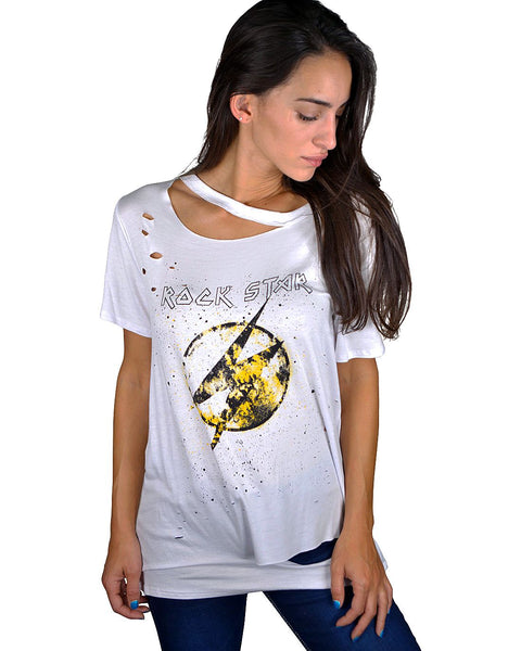 Distressed graphic tee-S-MY UPSCALE STORE
