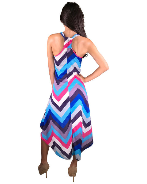 Ladies racerback high low hem dress-S-MY UPSCALE STORE