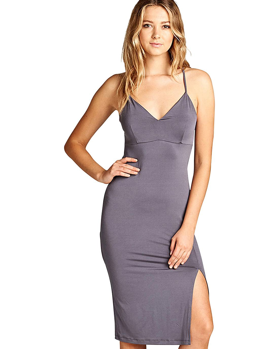 Adjustable cami straps dress-S-MY UPSCALE STORE