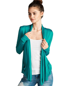 Open draped knit cardigan-S-MY UPSCALE STORE