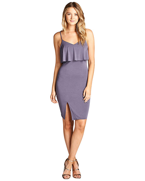 Adjustable cami straps bodycon fit dress-S-MY UPSCALE STORE
