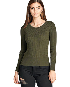 Ribbed long sleeves top-S-MY UPSCALE STORE