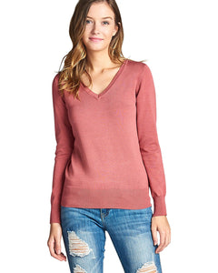 Ribbed V neckline top-S-MY UPSCALE STORE
