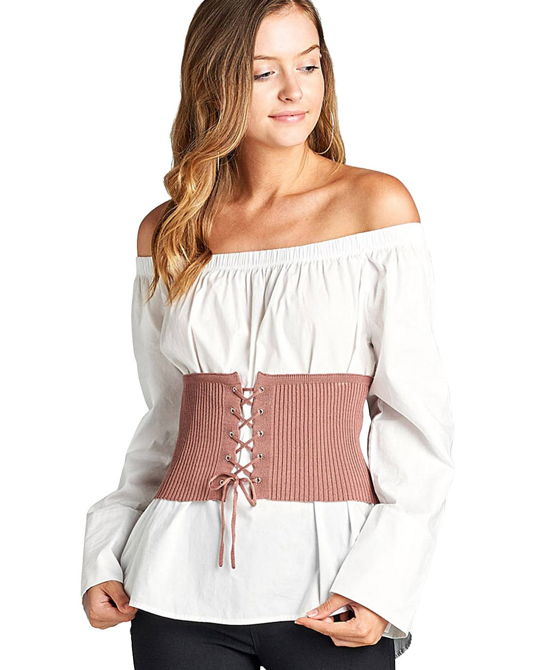 Grommet accents fashion corset-S-MY UPSCALE STORE