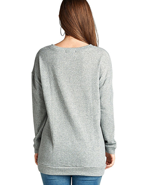 Dropped shoulders slash distressing terry knit tee-S-MY UPSCALE STORE