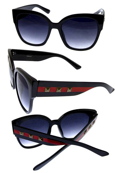 Womens blended fashion sunglasses-Black-MY UPSCALE STORE