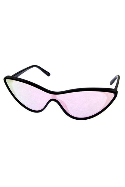 Ladies futuristic retro cat eye sunglasses-Black-MY UPSCALE STORE