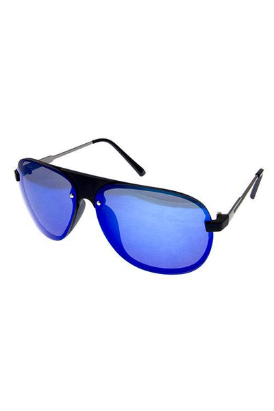 Mens rimless metal original style sunglasses-Black-MY UPSCALE STORE