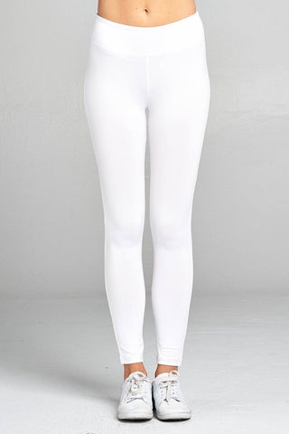 Ladies fashion workout ankle length pants-White-S-MY UPSCALE STORE