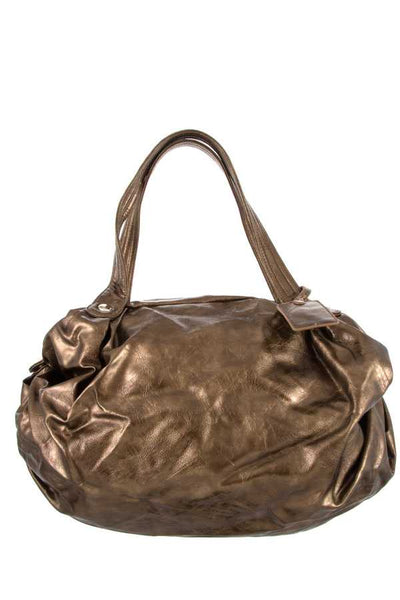 Ladies fashion crackled textured hobo handbag