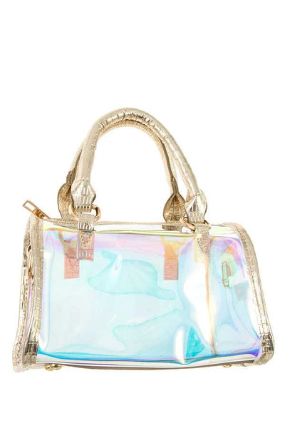 Ladies fashion see through mini boston bag