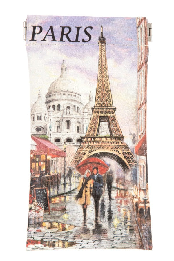 Monumental paris print snap bag glass case