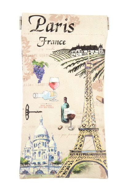 Paris france snap bag glass case