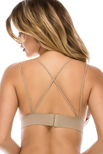 Ladies fashion crossback seamless bralette