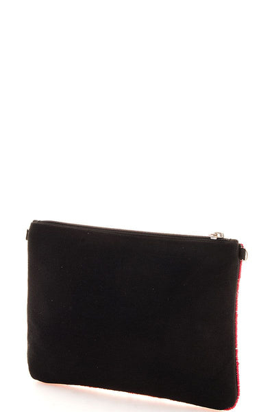 Spangle ooh la la clutch with long strap