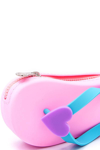 Nicole lee nikky slipper design silicone coin purse wallet