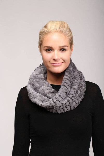 Solid faux fur infinity scarf